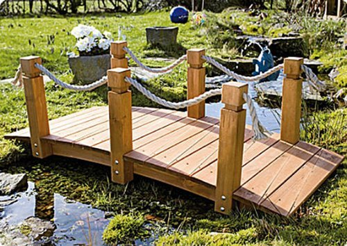 Teichbrücke Teich Brücke Holzbrücke Gartenbrücke: Amazon.de: Küche ...