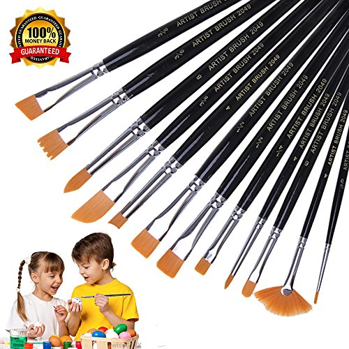 Paint Brushes, Vonart Paint Brushes Set Acrylic Paint Brushes Artist Paint Brushes Kids Paint Brushes for Art Painting, Acrylic Watercolor Oil, Nail Art, Miniature (Artists Paint Brushes)