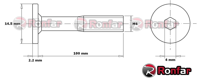 RONFAR M/öbel Kinderbett Schraube Inbus Teilgewinde f/ür Bett//Gitterbett M6 x 80mm 50 St/ück