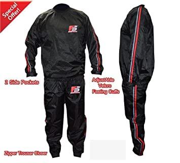 FS MMA Sauna Sweat Suit Track Weight Loss Slimming Fitness Gym Exercise Training