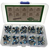 Amagogo 100 Pieces 10 Value 500 Ohms 1 M Potentiometer Assortment Kit with Variable