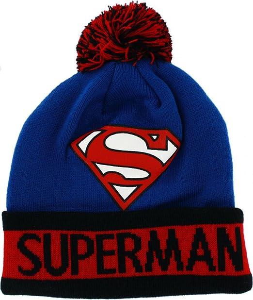 602fbdf59d4 Image Unavailable. Image not available for. Color  DC Comics Unisex Superman  Knit Hat ...