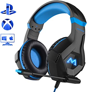 Mpow EG9 - Auriculares Gaming PS4, Sonido Surround de 40 mm, con ...