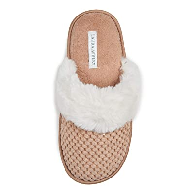 Laura Ashley Ladies Spa Texture Scuff Slippers | Slippers