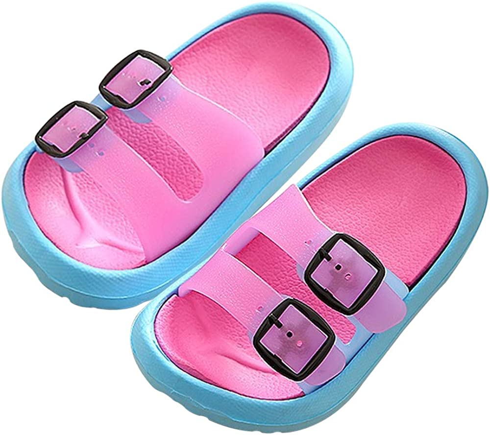 Toddler Little Kids Summer Sandals Non-Slip Boy Girl Slide Lightweight Beach Water Shoes Shower Pool Slippers