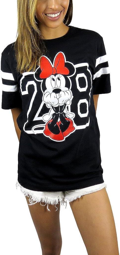 Disney Womens Minnie Mouse Varsity Football Tee