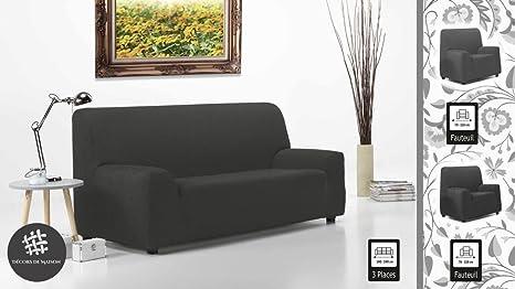 ensemble1 Funda de sofá Extensible 3 plazas + 2 Fundas para ...