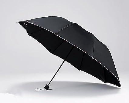 Sucastle Sombrillas, paraguas, UV, paraguas de los hombres:Color: negro: