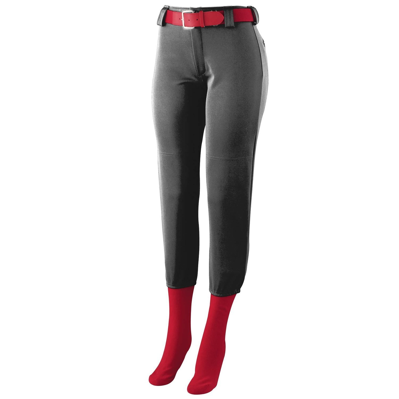 Augusta SportswearレディースHomerun Low Riseソフトボールパンツ B00GK5SDLW Large|ブラック ブラック Large