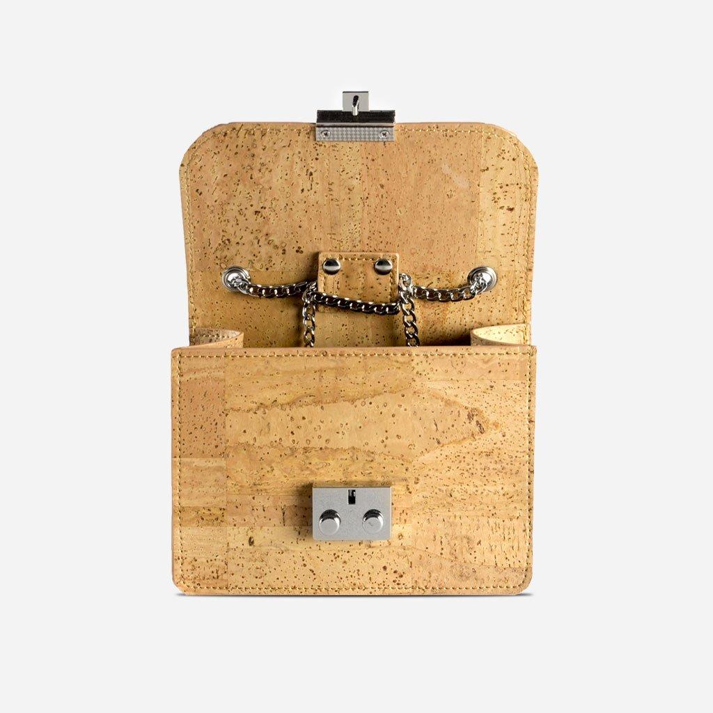 Corkor Mini Cork Handbag For Women Fashionable Vegan /& Eco-Friendly Hands-Free