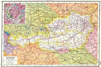 Amazon.com: AUSTRIA. Tyrol Salzburg Styria Carinthia ...