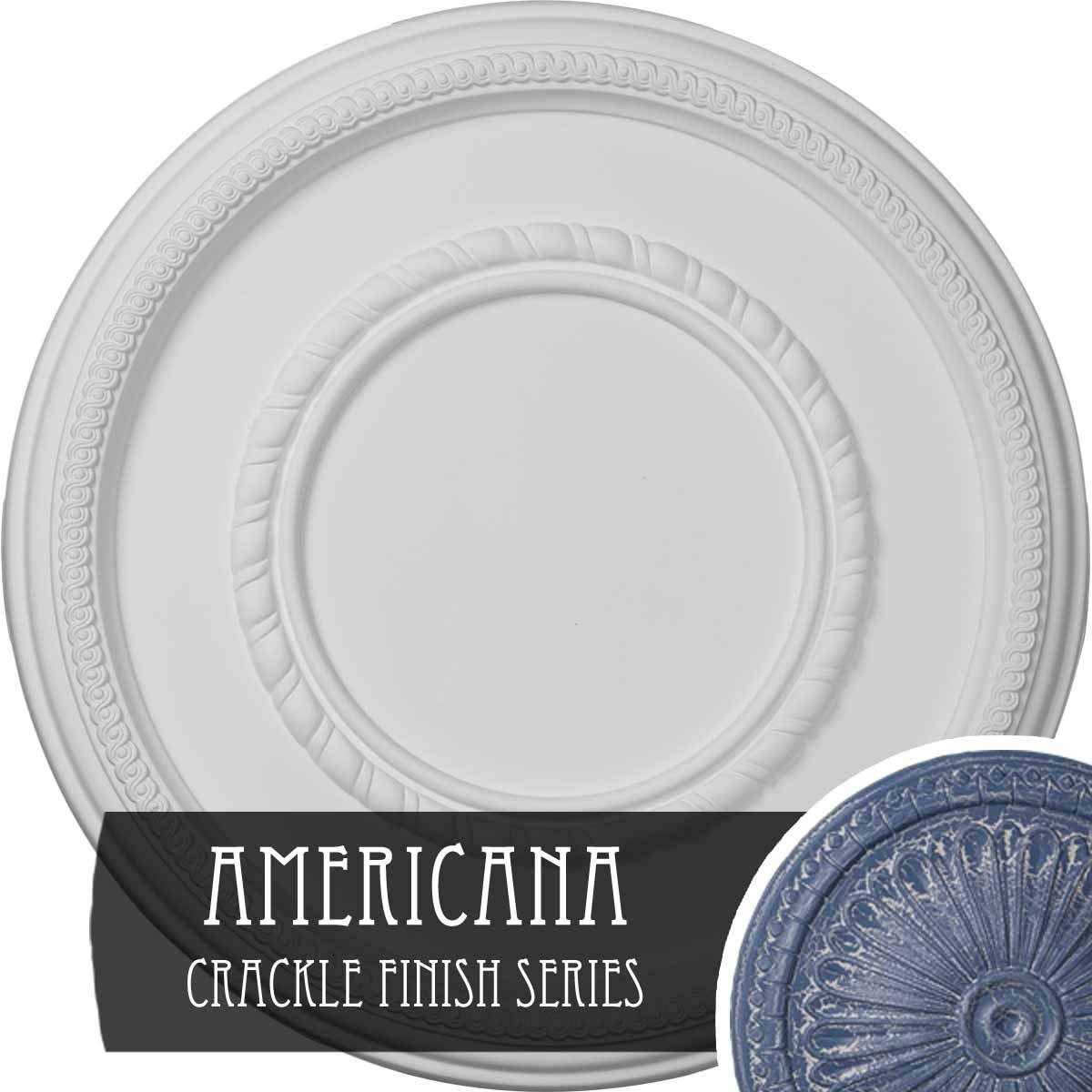 Ekena Millwork CM17FEAMC Federal Roped Large Ceiling Medallion, Americana Crackle