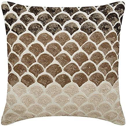 Cuscini Marroni Per Divano.The Homecentric Marrone 50x50 Cm Art Silk Federa Guanciale Seta