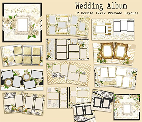 Wedding Album Scrapbook Kit - 12 Double  - Wedding Page Kit Shopping Results