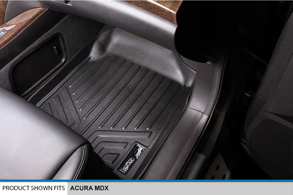 SMARTLINER Floor Mats 3rd Row Liner Black for 2007-2013 Acura MDX