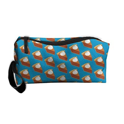 Thanksgiving Pumpkin Pie Toiletry Bag-Portable Travel Organizer Cosmetic Make Up Bag Case For Women Men Shaving Kit For Vacation