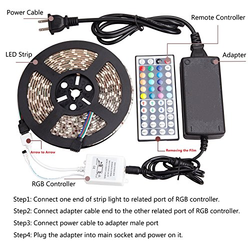 WenTop Led Strip Lights Kit DC12V Power Supply Waterproof