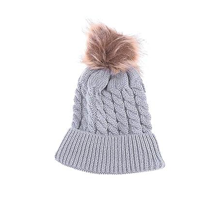 69033eef0 Amazon.com: Winter Warm Knit Hat Pom Hat Crochet Hairball Beanie Cap ...