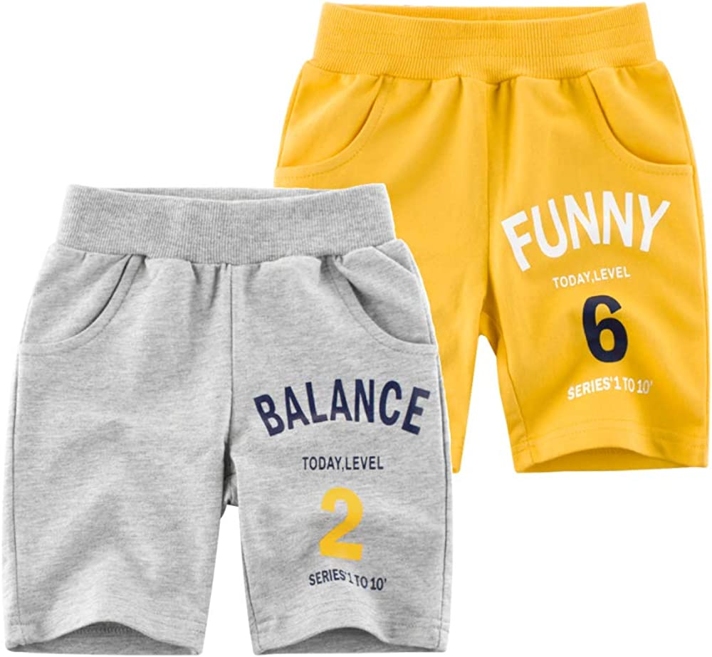 HUAER/& Baby Boys Summer Knit Shorts 2 Pack