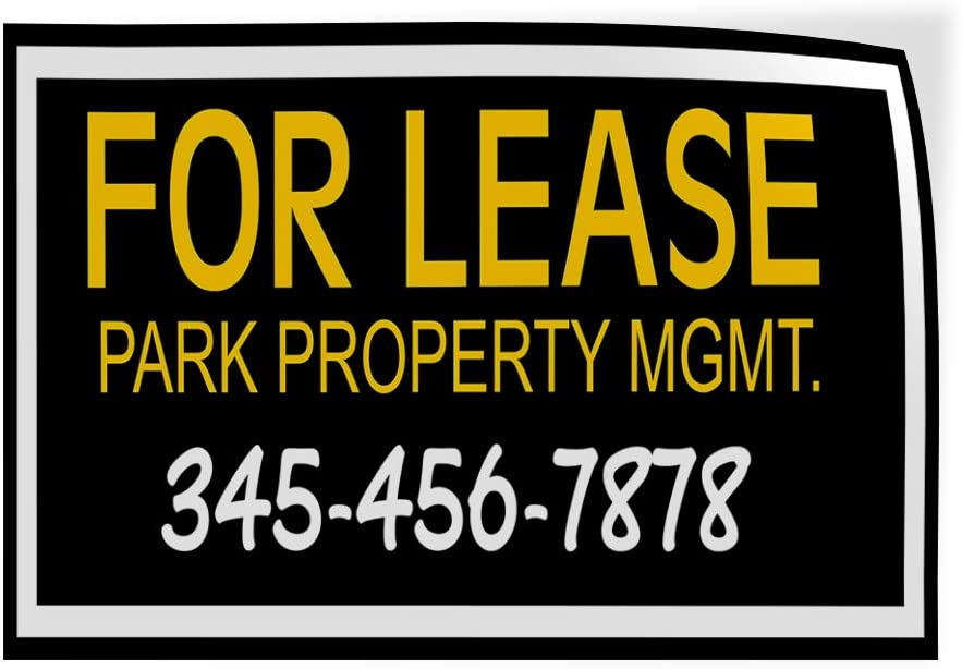 Custom Door Decals Vinyl Stickers Multiple Sizes for Lease Park Property MGMT Number Business for Lease Outdoor Luggage /& Bumper Stickers for Cars Black 27X18Inches Set of 10