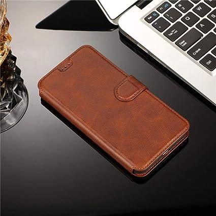 Amazon.com: Retro Leather Magnetic Note10 S10plus Case for ...