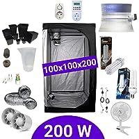 Kit de cultivo interior 200W CFL Crecimiento