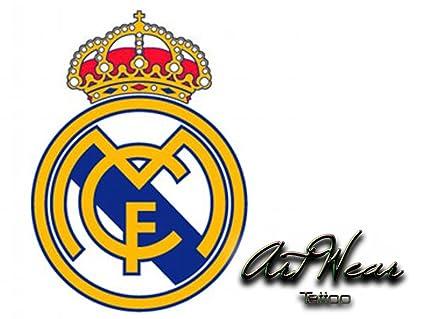 Tatuaje Temporal Equipe fútbol - España Real de Madrid - artwear ...
