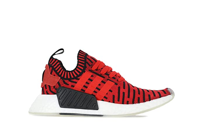 best website f8d03 9a757 Amazon.com   NMD R2 Primeknit Mens in Core Red Running White by Adidas, 5    Fashion Sneakers