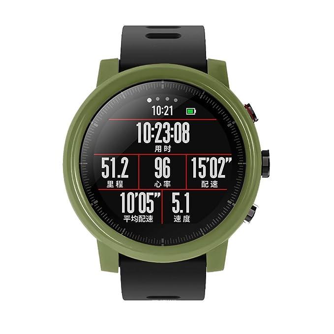 Protection de boitier Y56 pour la montre connectée Huami Amazfit Stratos 2/2S, en polycarbonate, fine, protection anti-chocs, accessoire mixte, ...