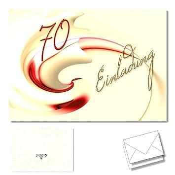 DigitalOase 2 Einladungskarten U0026quot;70u0026quot;   Einladungskarten Zum 70.  Geburtstag Geburtstagskarten 2 Klappkarten