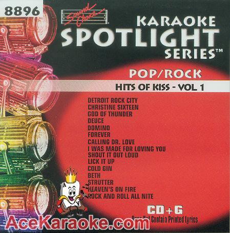 (Karaoke Music CDG: Sound Choice Spotlight CDG SCG8896 - Hits Of Kiss Vol. 1)