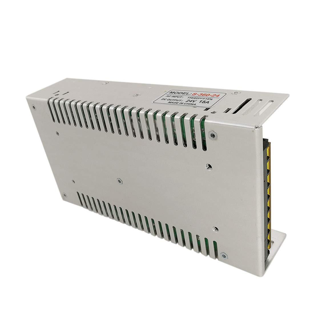 JOYLIT 360W Transformador de Voltage Alimentaci/ón de Interruptor AC 220V a 24V DC 15A Fuente de Alimentaci/ón para Tira de LED