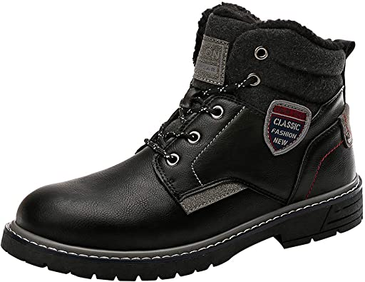 Men's Waterproof Boots Plush Shoes