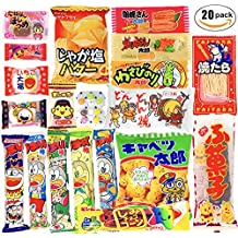 Japanese Candy Box assortment Kit 20pcs Dagashi Umaibo Snack Gumi potato Chip Kitty chocolate (20