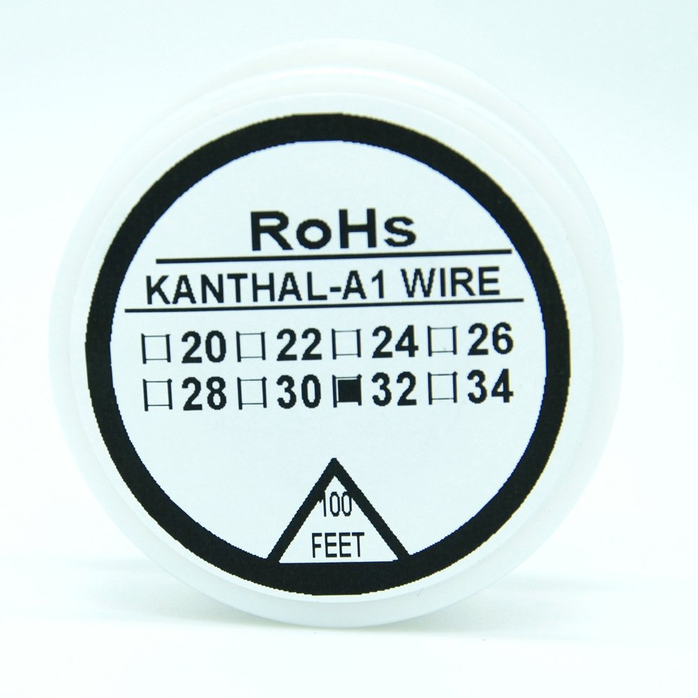 Kanthal A1 Type Resistance Wire 100ft (30m) Spool 22-32G AWG (32G ...