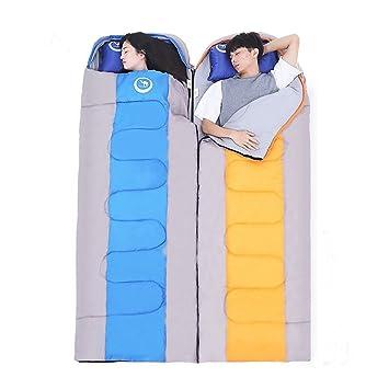 LOLIVEVE Saco De Dormir Tamaño Doble Al Aire Libre -5-15 Grados C Doble