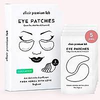 Under Eye Mask, Elixir Premium Hydrogel Patches - Collagen Under Eye Gel Pads, Puffy Eyes, Anti-Aging effect, Moisturizing Dark Circle Eye Treatment for Women & Men, Korean Under Eye Treatment 5 Pairs