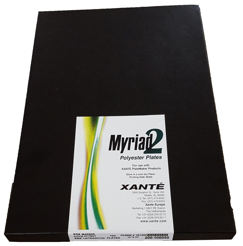 Xante Myriad 2 Polyester Laser Offset Printing Plates 12'' x 18'' - 100 Pack - All Sizes Available by Myriad