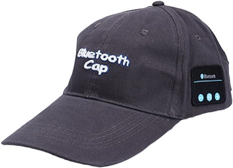 Leisial Hombres Gorro Bluetooth de Algodón Inalámbrico Gorra de ...