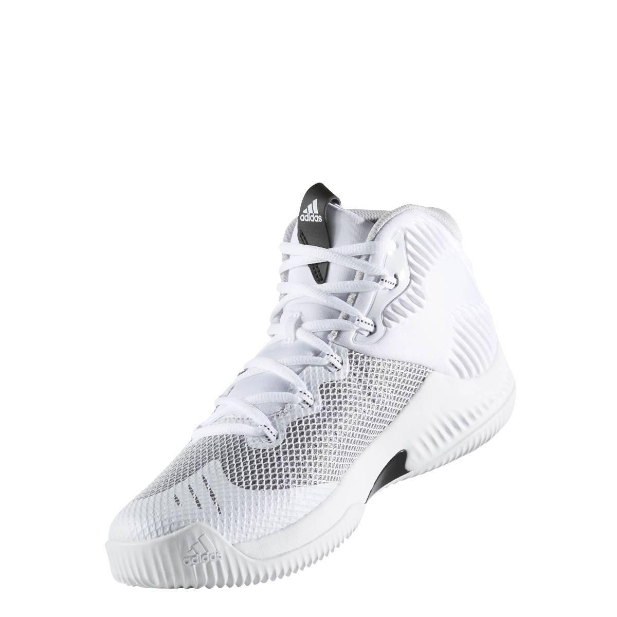 adidas Crazy Hustle, Scarpe da Basket Uomo, Bianco (Ftwbla