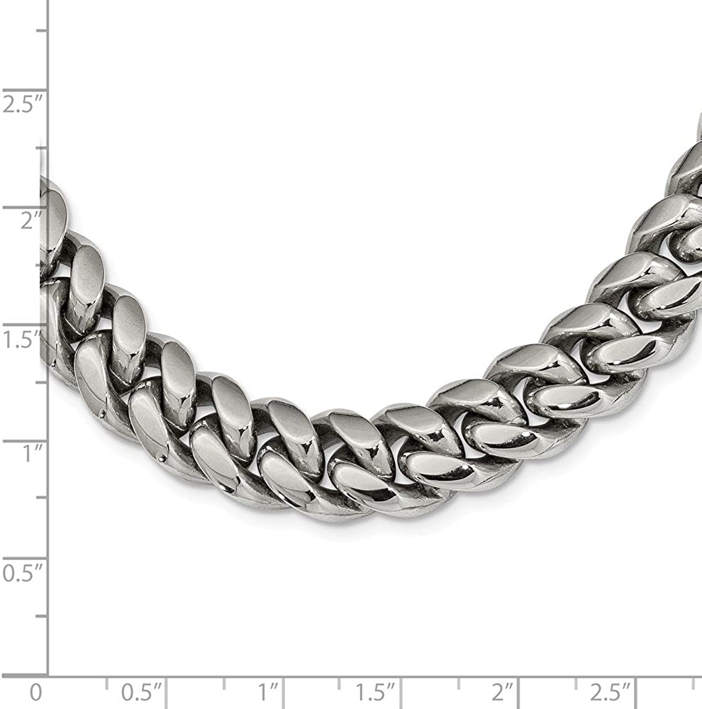 Jewelry Necklaces Chains Stainless Steel Polished 24in Curb Chain Necklace