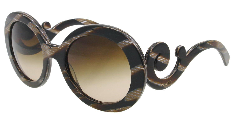 Amazon.com: Prada anteojos de sol SPR 27 N das-6s1 Marrón ...