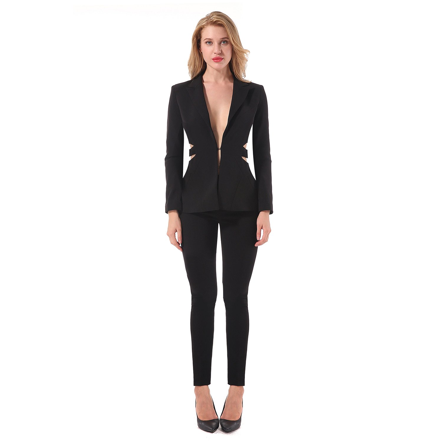 CIEMIILI 2017 Summer Fashion Women Hollow out Pant Suits