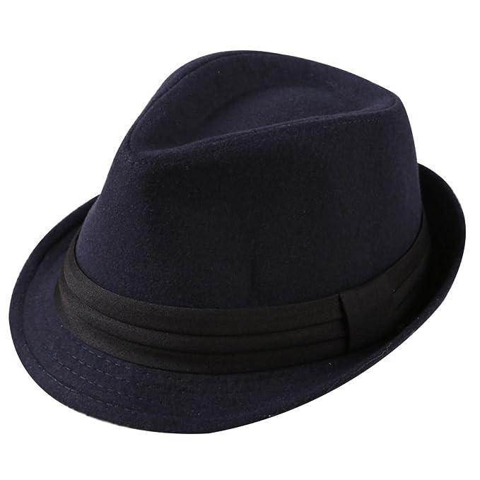 Sombrero de Jazz para hombre, de algodón y ala Ancha para fiesta.