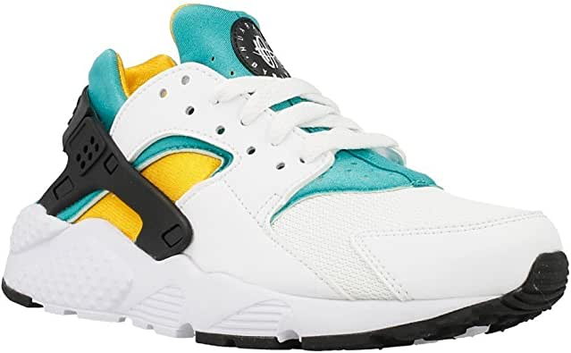 Nike Air Huarache Run (GS) Junior Zapatillas - Blanco/Negro/Verde ...