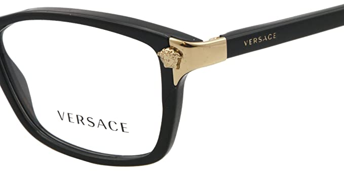 ed6035e2d39e Versace Eyeglasses VE 3156 BLACK GB1 VE3156 51  Amazon.co.uk  Health    Personal Care