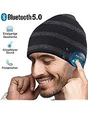 HANPURE Bluetooth Mütze Damen & Herren Geschenk, Bluetooth 5.0 Kopfhörer Mütze, Mikrofon für Freisprechanruf, Musik, Laufen, Skifahren, Elektronische Geschenke für Männer, Weihnachts Geschenke Frauen