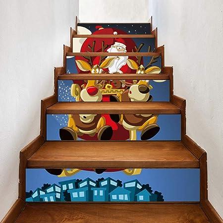 Theshy DIY Pasos Adhesivo de Escalera extraíble Decoración de Hogar Navidad Acción de Gracias Navidad Boda Fiesta Festival Decoraciones: Amazon.es: Hogar