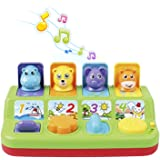 First Toys - Interactive Pop Up Animals Toy for Toddlers, with Music, Animal Sounds - Activity/ Learning Toy for Kids (9 M+) - Gift for Toddler Boys & Girls