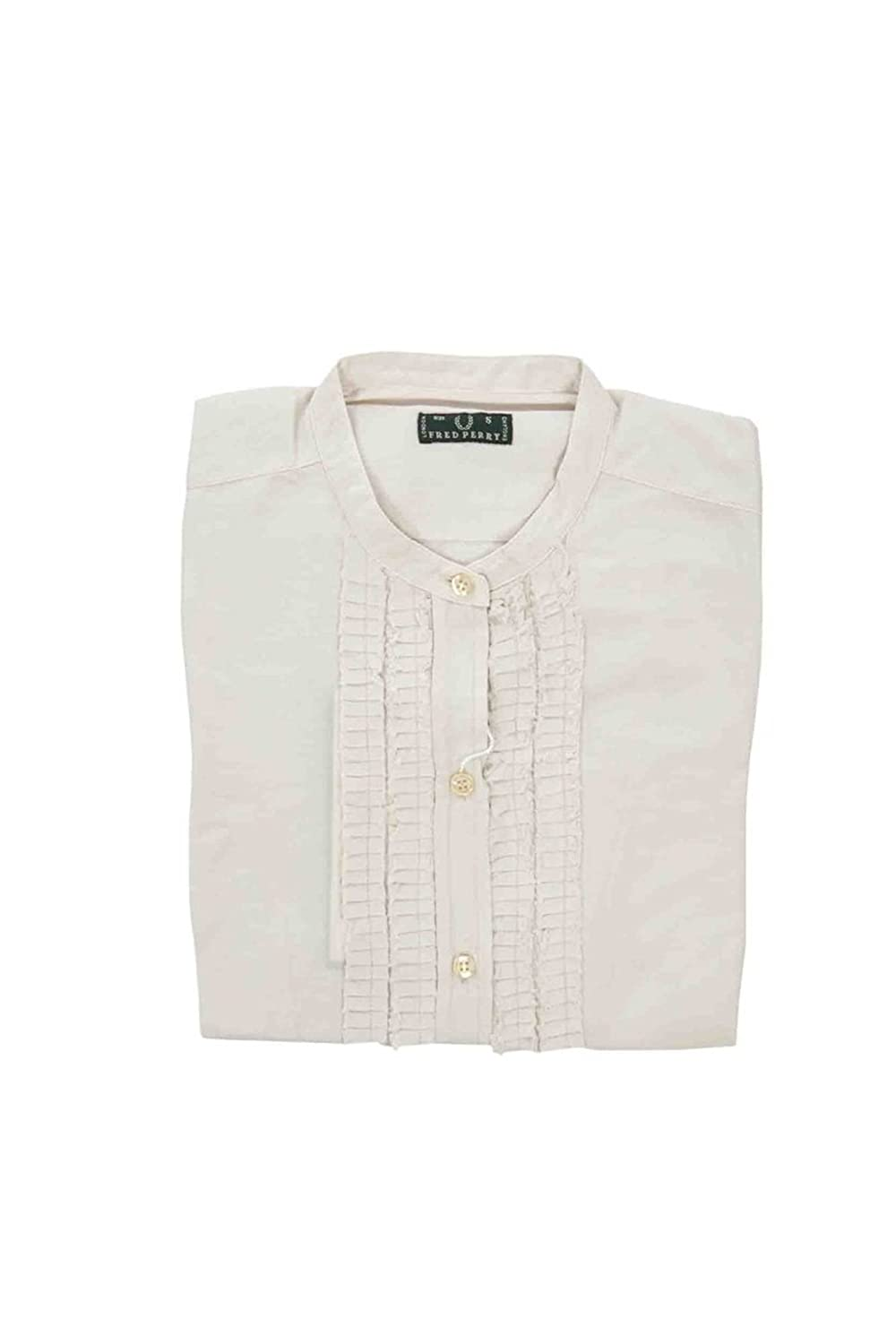 Fred perry shirt long sleeves women beige